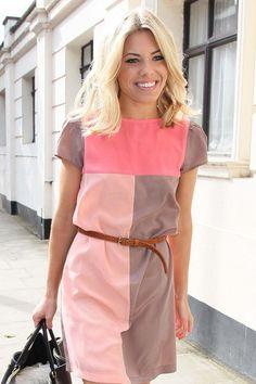 pink color block dress | Mollie King