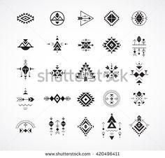 Esoteric, Alchemy, boho, bohemian sacred geometry, tribal and Aztec, sacred geometry, mystic shapes, symbols - achetez cette image vectorielle sur Shutterstock et découvrez d'autres images.