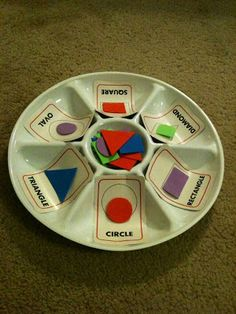 For the Love of Learning: DIY Grouping Shapes Activity - This Cost $4 Total To Create!