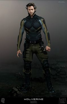 "Concept art for Wolverine / Logan's uniform by artist Joshua James Shaw from ""X-Men: Days of Future Past"" (2014)."