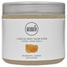 Körperpeeling NATURATiV Body Scrub Raw Sugar cuddling mit Karamell, Zitrone und Vanille, 500ml