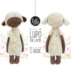 lalylala crochet pattern LUPO the LAMB / sheep - amigurumi by lalylala on Etsy… Crochet Sheep, Crochet Patterns Amigurumi, Crochet Dolls, Easter Crochet, Blog Couture, Yarn Sizes, Pet Toys, Stuffed Animals, Etsy