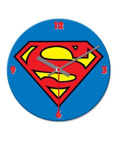 Time to save the world! Join the adventure with Superman and hang up this wall clock in a little crime-fighter's bedroom. It's sure to inspire comic book dreams and heroic promptness.