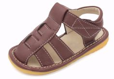 Squeaky Shoes | Brown Fisherman Toddler Boy Sandals