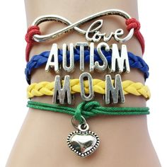 [Visit to Buy] Infinity Love Autism Mom or Mum Grandma / Nana/ Aunt/Sister Awareness Heart Charm Leather Handmade Bradied Puzzle Piece Bracelet Autism Awareness Bracelet, Braided Bracelets, Handmade Bracelets, Jewelry Bracelets, Bangles, Leather Bracelets, Jewelry Watches, Sister Bracelet, Charms