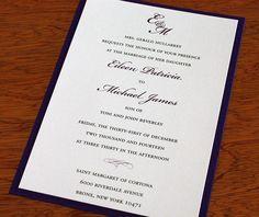 monogram letterpress wedding invitation by invitations by ajalon