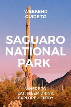 The Weekend Guide to Saguaro National Park : Best things to do and see #tucson #saguaro #hiking
