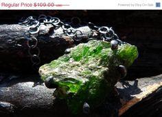 SALE emerald druzy necklace Brazilian jewelry by BeijoFlor on Etsy, $65.40