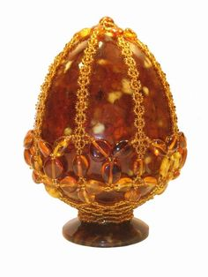 Egg shaped Russian amber.
