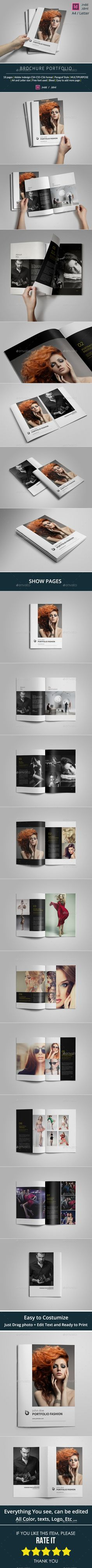 Brochure Portfolio Template — InDesign INDD #photography album #layout • Available here → https://graphicriver.net/item/brochure-portfolio-template/10342441?ref=pxcr