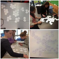 "stepheneames on Twitter: ""#SOLOtaxonomy Students arranging hexagons in sequences and clusters, justifying and explaining any connections made http://t.co/pQNZat5spz"""
