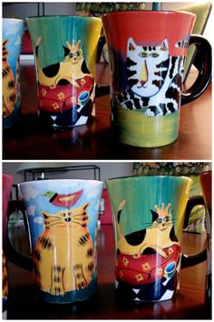 I want these mugs!! Available via Veronica's Collection.