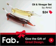 Oil and Vinegar holders!