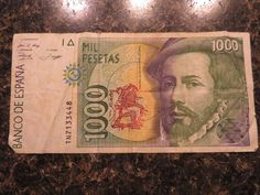 Spain, Espana 1992, real circulated banknote 1 x 1000 Pesetas