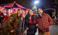 Chop, Izzie, Rae and Archie at the fair. (My Mad Fat Diary, S2)
