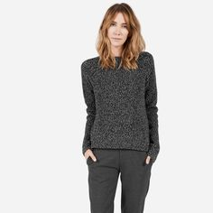 Comfort meets modernity; a cozy sweater in an architectural cut   100% extrafine…