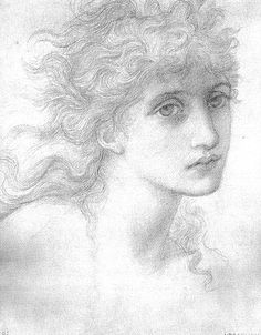 Edward Burne-Jones was a British artist of the Pre-Raphaelite movement. Life Drawing, Drawing Sketches, Painting & Drawing, Art Drawings, Dante Gabriel Rossetti, William Morris, John Everett Millais, Edward Burne Jones, Pre Raphaelite Brotherhood