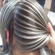45 Silver Hair Color Ideas For Grey Hairstyles Ash Blonde Hair, Ombre Hair, Balayage Hair, Gray Hair Highlights, Transition To Gray Hair, Hair Color And Cut, Super Hair, Hair Looks, Dyed Hair