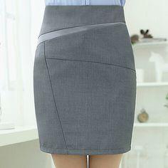 Carrera mujeres faldas cortas del verano del Color sólido paquete Hip falda lápiz delgado más el tamaño S-3XL Ladies Formal del desgaste del trabajo de la falda ocasional(China (Mainland))