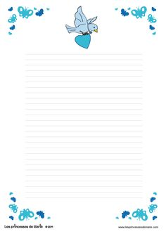 my letter with love Printable Lined Paper, Free Printable Stationery, Cute Stationery, Stationery Paper, Free Printables, Lined Writing Paper, Writing Papers, Letter Writing, Scrapbook Paper