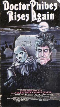 Doctor Phibes Rises Again (1972) - Vincent Price - Movie Poster https://www.youtube.com/user/PopcornCinemaShow