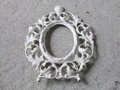 Cast Iron  Picture Frame / Vanity Frame/ Mirror by assemblage333, $48.00