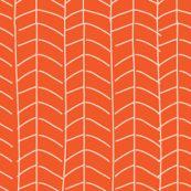 Texas Modern Herringbone in Sunrise by Jacinda from Spoonflower #fabric #geometric #orange