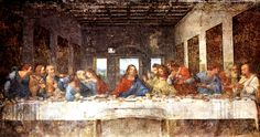 Da Vinci's Last Supper (c1497) Held at Santa Maria delle Grazie, Milan, Italy. It was protected in Italy during WW II