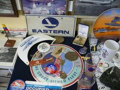 Eastern Airlines Table Display at Miami Airport Museum