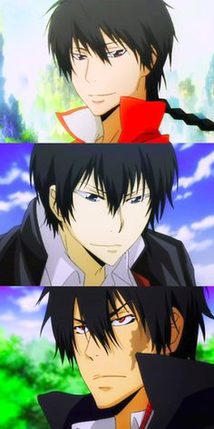 Katekyo Hitman Reborn <<<< they have to be related! Or at least know each other!!!!