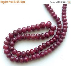ON SALE 55% Ruby Beads Ruby Jewelry Ruby Necklace by gemsforjewels