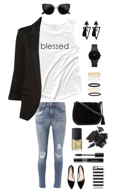 """""""Blessed is She (white cap sleeve)"""" by trueandnobleapparel on Polyvore featuring rag & bone, WithChic, MANGO, Vince Camuto, Accessorize, ROSEFIELD, Casetify, NARS Cosmetics and Christian Dior"""