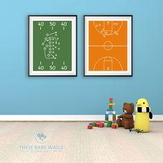 Sports Field Printable Wall Art | Sports Poster | Sports Prints | Sports Print…