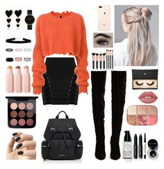 """Fall outfit 🎃🍁"" by katmargoo on Polyvore featuring Unravel, Christian Louboutin, Burberry, CLUSE, Edie Parker, Incoco, Bobbi Brown Cosmetics, Lash Star Beauty, Lime Crime and Hourglass Cosmetics"