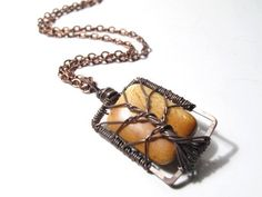 The Bone Tree of Life Necklace in Antique Copper. $39.00, via Etsy.