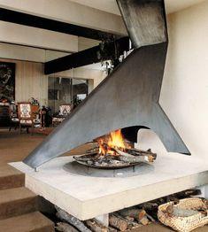 Promethee - contemporary - living room - toronto - CF + D custom fireplace design Custom Fireplace, Home Fireplace, Fireplace Design, Fireplace Ideas, Classic Fireplace, Metal Fireplace, Freestanding Fireplace, Indoor Fire Pit, Outdoor Fire