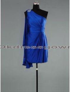 Short Chiffon Royal Blue bridesmaid dress