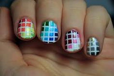 Colorful Square Nail Design!