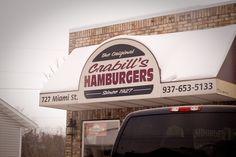 Crabill's hamburgers Urbana Ohio, Mini Burgers, 70s Hippie, Hamburgers, Small Towns, Us Travel, Stuff To Do, New Homes, Memories