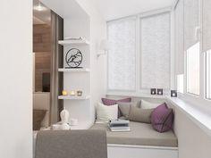 балкон, совмещенный со спальней