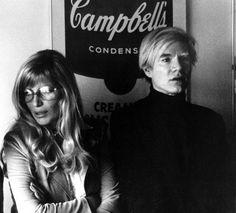 Andy Warhol, with Monica Vitti.