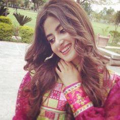Sajjal Ali, Saree Dress, Dress Skirt, Looking Gorgeous, Beautiful, Latest Instagram, Ethnic Dress, Muslim Girls, Pakistani Actress