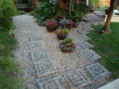 Decorare il giardino con i sassi - Idee fai da te per decorare un giardino