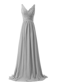 WeiYin Women's Chiffon V-neck Sleeveless Bridemaid Dresses Grey US 8 WeiYin http://www.amazon.com/dp/B012VHIZ7Y/ref=cm_sw_r_pi_dp_QWcSwb1HDRY6D