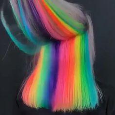 gamay hair Exotic Hair Color, Pretty Hair Color, Hair Color Dark, Galaxy Hair Color, Hair Colour, Color Black, Unicorn Hair Color, Peekaboo Hair, Neon Hair