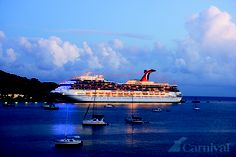 The Carnival Valor -  sailed her twice!  1. Exotic Western Carribean which included Central America (Belize & Honduras)  2.  Eastern Carribean