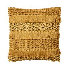 Featuring a fantastic textured, fringed design on the front, the Axel Cushions bring a definite point of interest to your home styling. Mustard Bedroom, Mustard Bedding, Linen Bedding, Bed Linens, Bedding Sets, Yellow Throw Pillows, Throw Cushions, Accent Pillows, Dorm Pillows