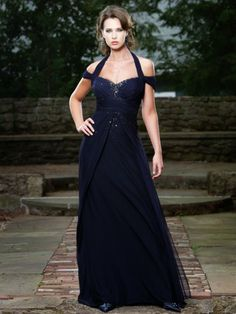 A-ligne licol robes demoiselle honneur en tullle