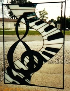 Classic Stained Glass and Gift Gallery Inc. Idea for the studio…but would like to adjust the treble clef to be more accurate.
