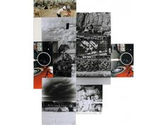 Robert Rauschenberg (American, 1925 - 2008) Venice Print Project, screenprint in colors with collage on cut-out paper, 1984 Signed, Numbered, and Dated by Robert Rauschenberg, and created with fabric and photo collage on hand-cut paper. Apart from the edition of 75, there were also 15 Artist's Proofs. Height 32 in. x...